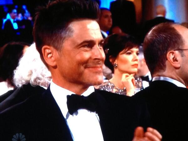 Rob Lowe at the 2014 Golden Globe Awards on Exshoesme.com. @EWAnnieBarrett photo.