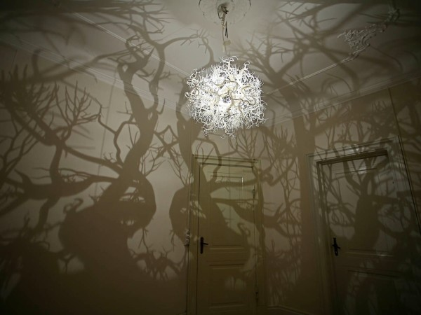 Forest Projection Chandelier by Hilden & Diaz