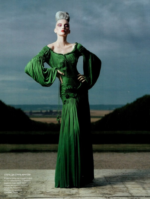 JPG Fall 2005 Green Haute Couture Gown on Exshoesme.com
