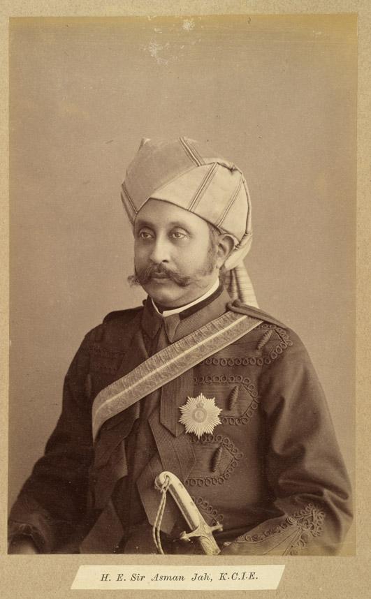 5. Prime Minister of Hyderabad, Sir Asman Jah; circa 1887, Raja Deen Dayal