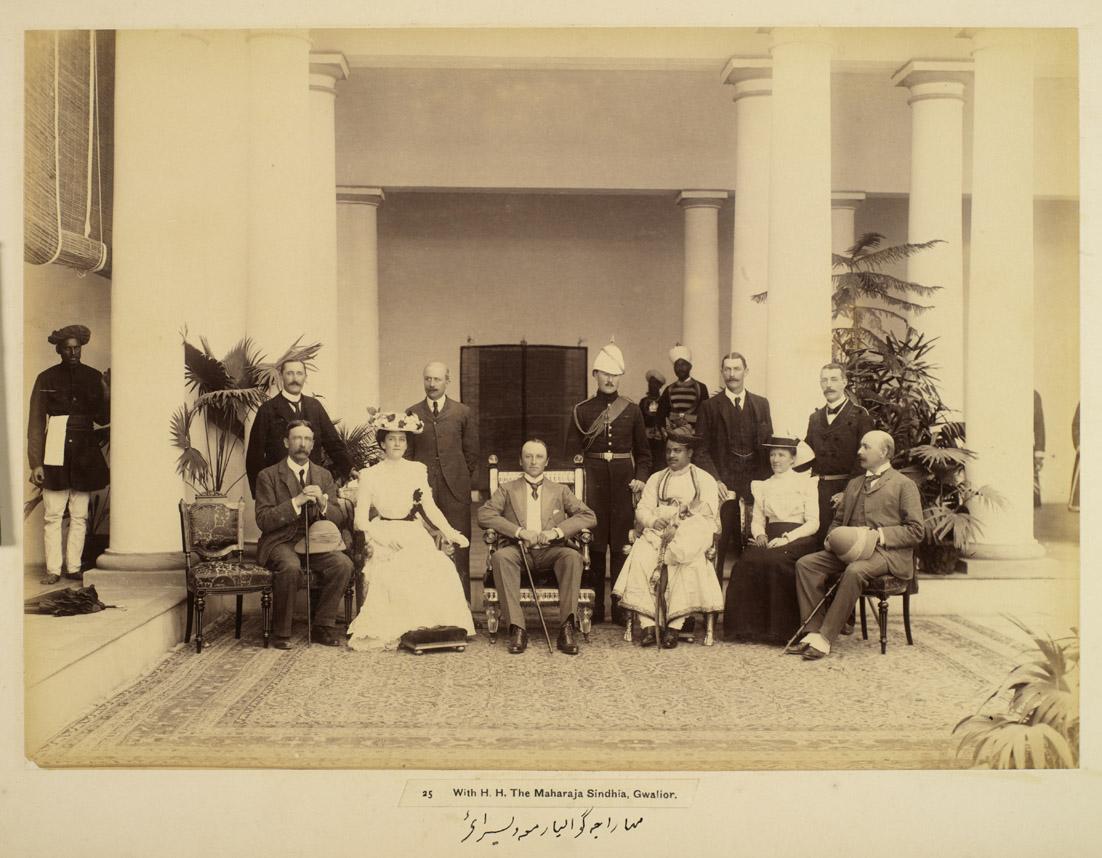 9. Viceroy Curzon with the Maharaja of Gwalior; circa 1903, Raja Deen Dayal & Sons Studio