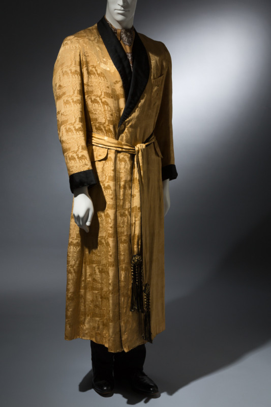 Charvet Dressing gown Yellow silk brocade Circa 1930, France The Museum at FIT, P89.4.1