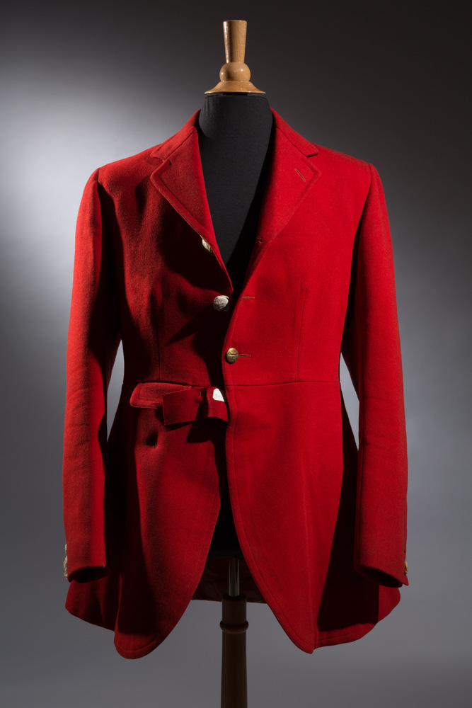 Huntsman red wool riding coat, 1937