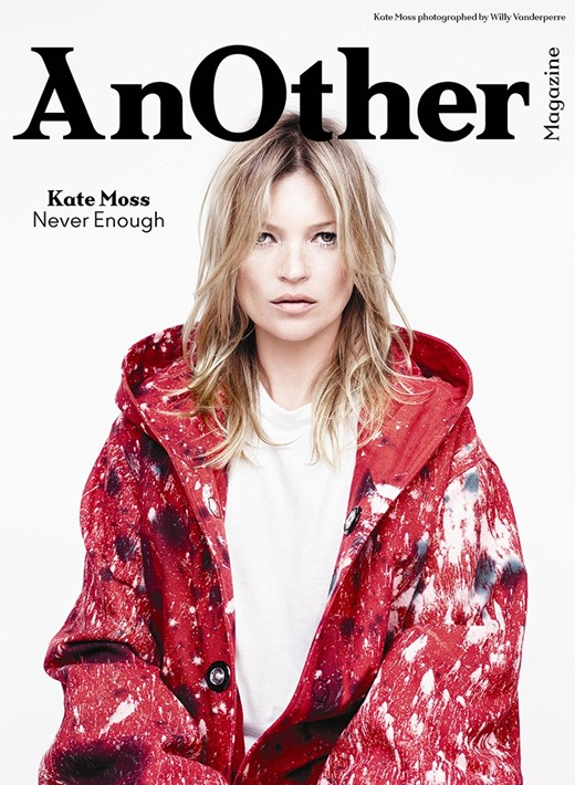 Kate Moss on the cover AW2014 cover of Another Magazine on Exshoesme.com Photography by Willy Vanderperre, Styling by Olivier Rizzo