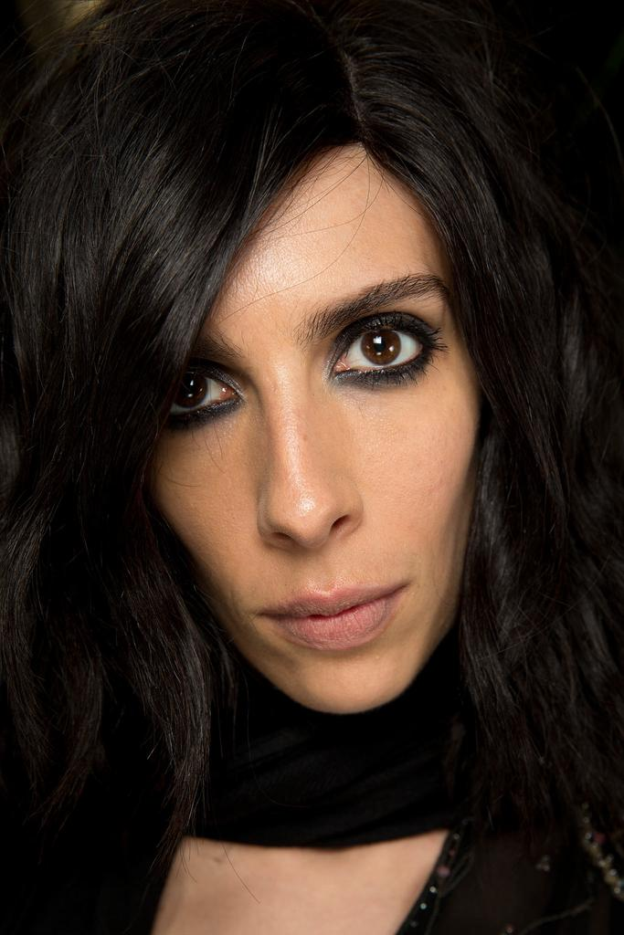 Jamie Bochert at the Tom Ford SS15 show on Exshoesme.com