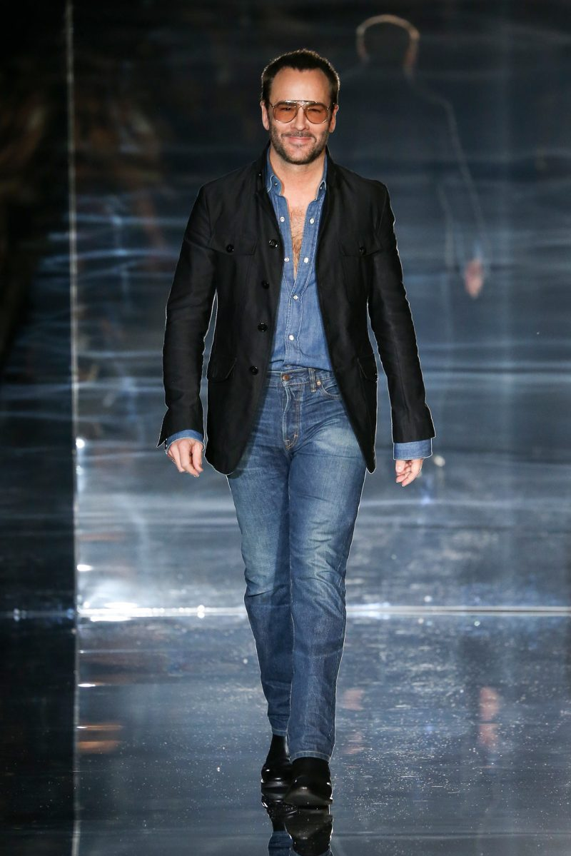Tom Ford at his SS15 show on Exshoesme.com