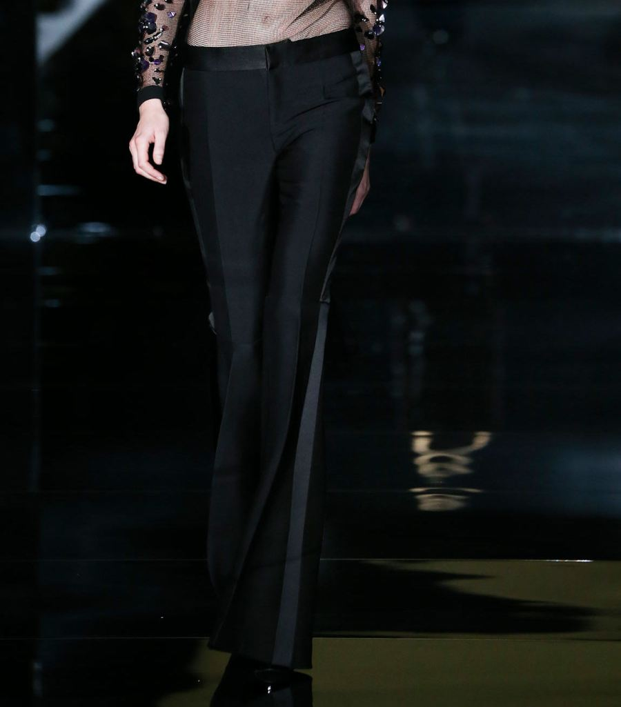 Tom Ford SS15 Flared Tuxedo Pants on Exshoesme.com