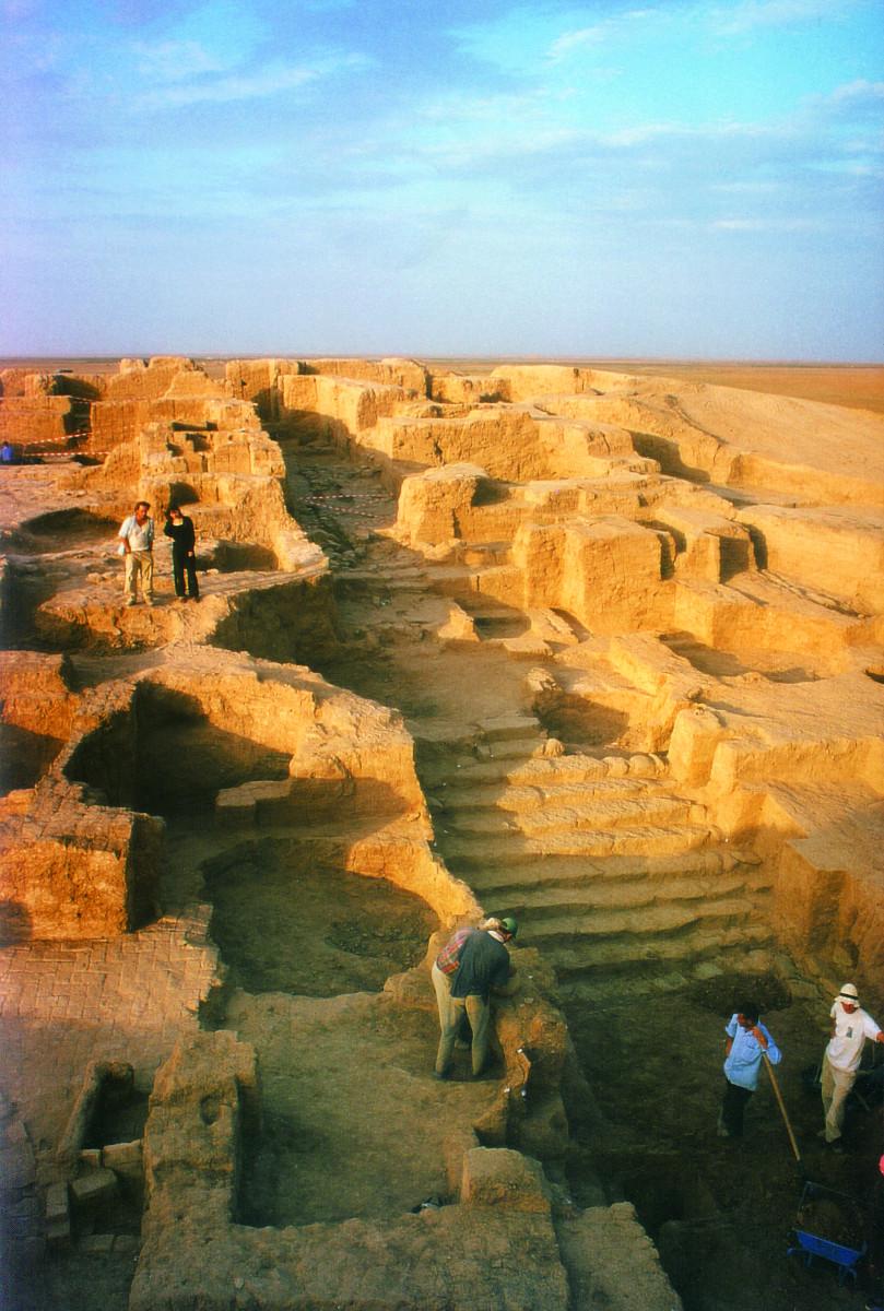 Tussen 1992 en 2001 waren archeologen van de KU Leuven actief op de site in de noordoostelijke stad Tell Beydar - de voormalige paleisstad Nabada © prof. Joachim Bretschneider, KUL