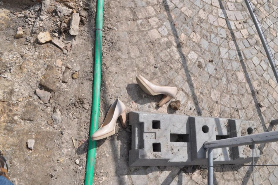 Hakken uit, laarzen aan. (©VUB)
