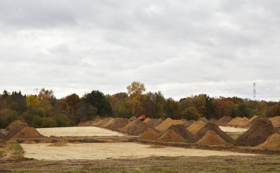 Overzicht van de archeologische site, waar twee cultusplaatsen ontdekt zijn © Kris Vandevorst
