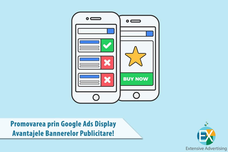 Promovarea prin google Ads Display - Avantaje bannere