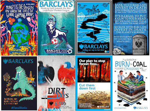 creative fake Barclays posters