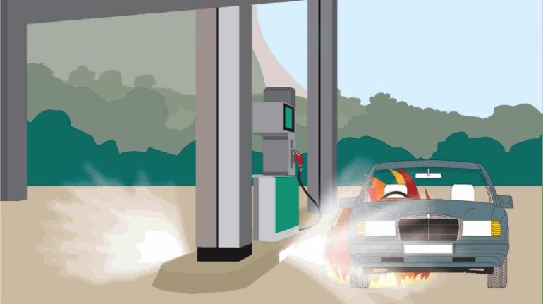 Extinción automatica gasolineras
