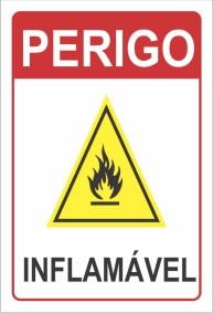 Placa de Sinalização - Perico Inflamável