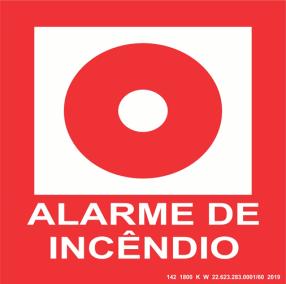 Placa de Sinalização - Alarme de Incêndio