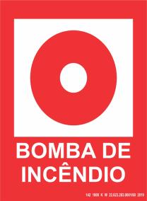 Placa de Sinalização - Bomba de Incêndio