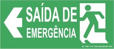 Placa de Sinalização - Saída de Emergência
