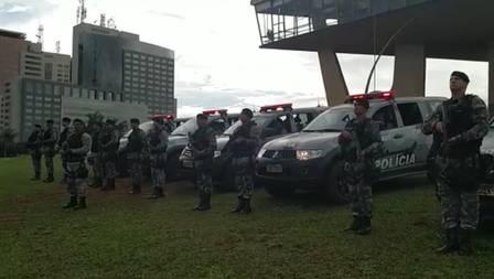 Militares da Rotam, de Brasília, se mobilizam para homenagem aos colegas de corporação