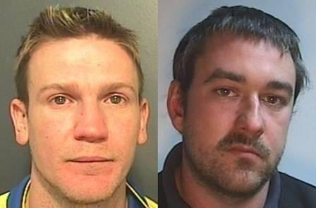 Mark Longo, de 34 anos, (à esquerda) foi condenado à dois anos e oito meses e Matthew Gareth Horrocks, de 30, (à direita) à dois anos e quatro meses