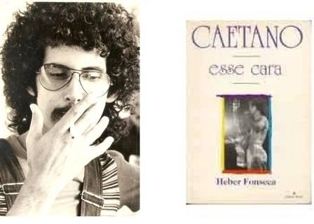 Héber Fonseca, autor da biografia, e o livro, hoje só encontrato em sebos