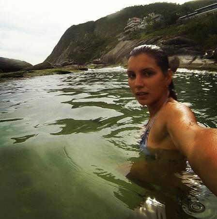 Maya Gabeira em Itacoatiara, Niterói