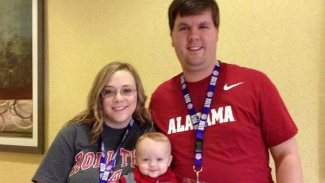 Justin Ross Harris, a esposa Leanna e o filho Cooper