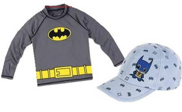 Camiseta UV.Line (R$ 159); boné Baby Heróis UV.Line (R$ 59);