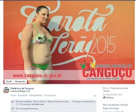 Mais de 11 mil pessoas curtiram a foto da moça e mandaram elogios