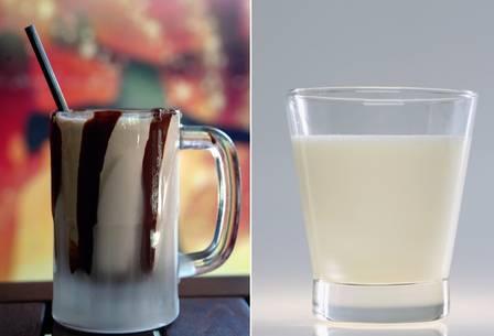 Milk shake de chocolate x Leite de amêndoas