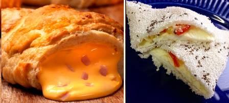 Croissant de queijo amarelo x Tapioca de chia