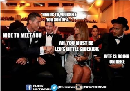 Neymar Seca Cristiano Ronaldo E Imagem Rende Memes Engracados Na