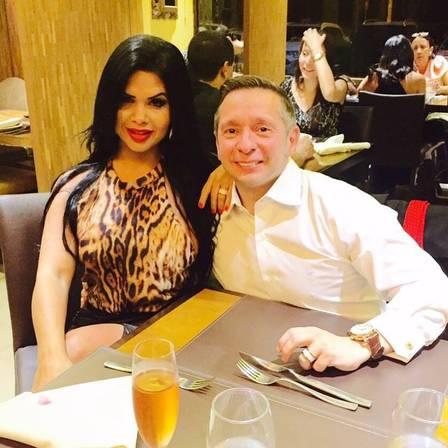 Milena e Alessandro: casal está junto há dois anos