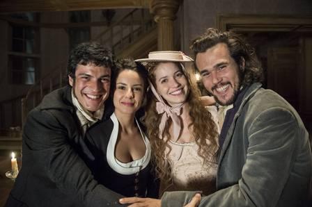 "Nos bastidores de ""Liberdade, liberdade"", com Andreia Horta, Nathalia Dill e Bruno Ferrari"