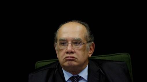 O ministro Gilmar Mendes, durante sessão do Supremo Tribunal Federal