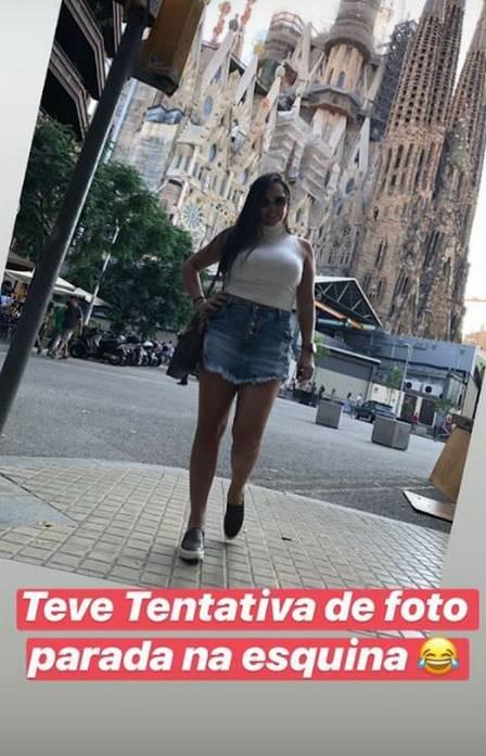 Priscila em Barcelona, na Espanha