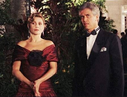 Nuno Leal Maia com Vera Fischer na novela