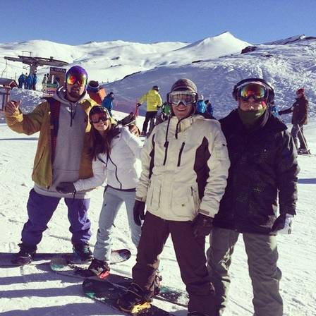 Caio Giovanna and friends, during a trip to Chile