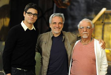 Patrick with theater directors Aderbal Freire and Amir Haddad