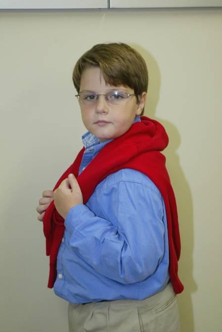 Em sua época de ator, com 9 anos de idade