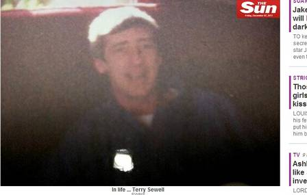 A família divulgou uma foto de Terry, quando ainda estava vivo