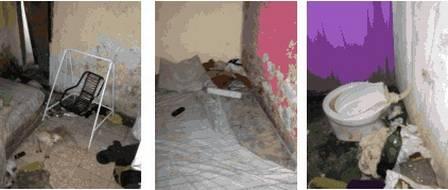 Detalhes da casa, fotografados pelos policiais