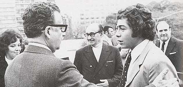 Caszely com o presidente eleito Salvador Allende do Chile.
