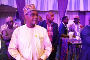 Bitrus Bako Nabasu (MNI), the Permanent Secretary of the Ministry of Petroleum Resources, Nigeria and Olalere Babasola, Executive General Manager (EGM), Government Relations, Total E&P Nigeria Limited (TEPNG).
