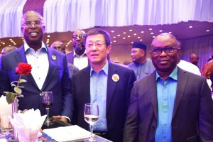 AMNI boss, Tunde Afolabi, H.E. Gabriel M. Obiang Lima, Minister of Mines and Hydrocarbon, Equatorial Guinea and Honorable Minister of State for Petroleum Resources, Chief Timipre Sylva.
