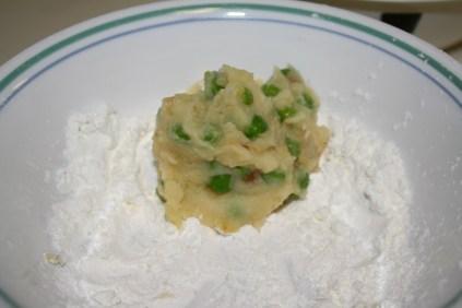 Potato croquette - cover in corn starch first