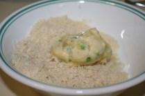 Potato croquette - coat in panko third