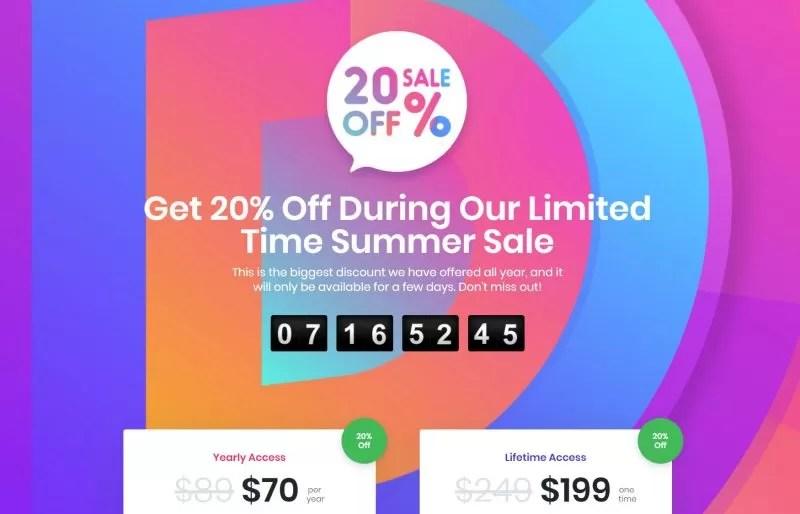 Acquista Divi a un prezzo da discount per festeggiare il mezzo milione di utenti!