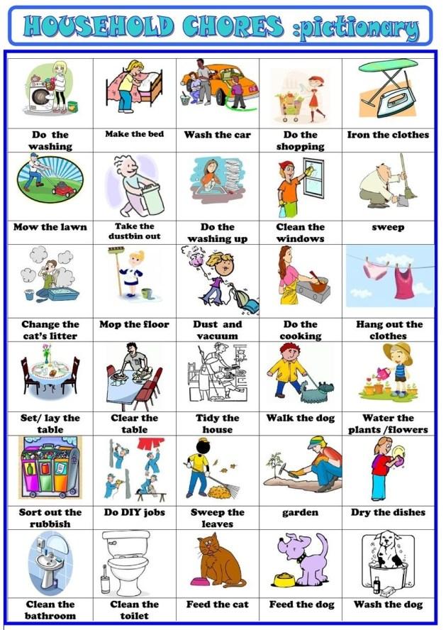 Персональный сайт учителя английского языка - Household chores