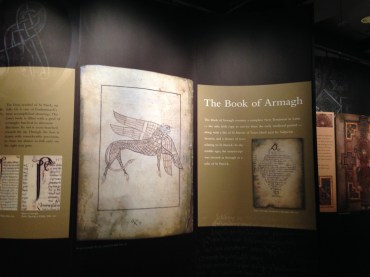 Massive displays showing the origin of the ancient text.