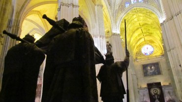 Christopher Columbus' tomb inside Seville Cathedral, Spain